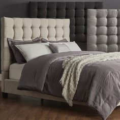 Shop for Briella Button Tufted Linen Upholstered Queen Size Bed by MID-CENTURY LIVING. Get free shipping at Overstock.com - Your Online Furniture Outlet Store! Get 5% in rewards with Club O!