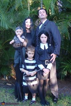 Fasching Ideen Karneval Kostüme adams familie verkleidung