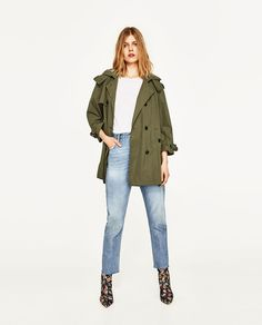 ZARA - SALE - SHORT TRENCH COAT WITH HOOD