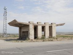 A Collection of Striking Soviet Bus Stop Designs,Saratak, Armenia. Image Courtesy of herwigphoto.com
