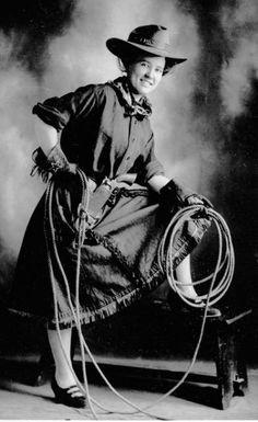 Cow Girl ~ Colorado Springs Colorado ~ 1900