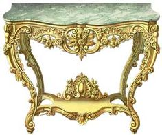 The major characteristics, in abstract terms, of the rococo style, sometimes called Louis XV or Louis Quinze, are lightness, assymetry, elegance, and the most exquisitely minute and careful decorative accents. In more practical terms French rococo furniture sees great use of interlacing shell decoration, plant and flower motifs, C scrolls and S scrolls. The cabriole leg and scroll foot were refined and used a great deal.