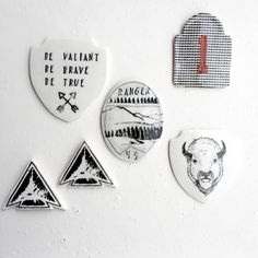 Adventure art- explorer patches, ceramic art, outdoor art, screenprinted art, nature art, nursery art, porcelain, adventure, explore