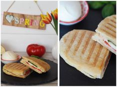 homemade panini bread-contact grill-clear stone Best Picture For cheese Cake recipes For Your Taste Gourmet Sandwiches, Sandwich Bar, Healthy Sandwiches, Sandwiches For Lunch, Sandwich Recipes, Subway Sandwich, Pain Panini, Sandwiches Gourmets, Churro