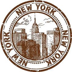 New York USA City Travel Grunge Stamp Sticker Decal Design X Vinyl Sticker, Highest Quality Car Bumper Stickers, Laptop Stickers, Travel Stamp, Passport Stamps, Tumblr Stickers, New York, Thinking Day, Aesthetic Stickers, Custom Stamps