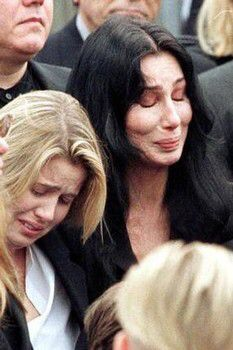 Cher and Chastity at Sonny's funeral