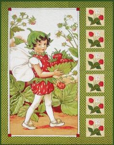 Flower Fairies by Cicely Mary Barker Fabric Panel Quilts, Cotton Quilting Fabric, Fabric Panels, Cicely Mary Barker, Quilt Baby, Cot Quilt, Fantasy, Quilt Patterns, Sewing Patterns