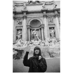 Françoise Hardy throws a coin into La Fontana di Trevi, Rome, Italy. Françoise Hardy, Rome Photography, Travel Photography, Wildlife Photography, Travel Pictures, Travel Photos, Jean Marie, Trevi Fountain, Europe Photos