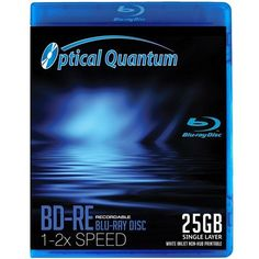 Optical Quantum 2x BD-RE Media White Inkjet Printable Retail Pack 1 pack by Optical Quantum. $8.99. The Optical Quantum Blu-ray Rewritable Disc series is on the cutting edge of technology using a blue-violet laser to record either high-definition (HD) video or high capacity gigabyte data files. Plus these discs offer the ability to rewrite content over and over which is especially useful for those that need to consistently update data or files onto large capacity discs. U...