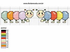 Cross Stitch For Kids, Cross Stitch Baby, Creations, Comics, Annie, Chiffon, Knit Baby Booties, Cross Stitch For Baby, Counted Cross Stitches