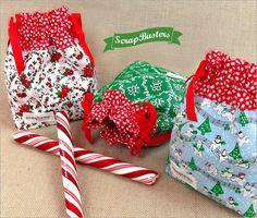 ScrapBusters: Mini Drawstring Gift Bags | Sew4Home