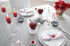 Décoration de table *** Table Pomme d'Amour *** Retrouvez toutes mes décorations de tables sur Facebook *** Esprit de Tables by Daphné
