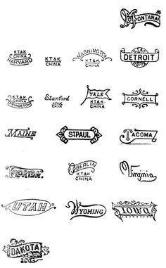 vintage state logos