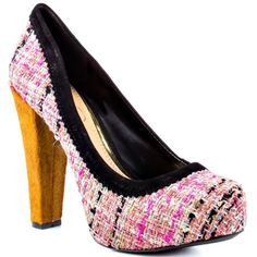 """Jessica Simpson Topazio Pumps in Rosa Tweed Brand new without box. New and never worn. Pink, peach, metallic and other colors make up the tweed section of the heel. Top is lined with black suede and heel is calf hair. In perfect condition with no signs of wear on heels or soles. Only """"flaw"""" is the sticker residue left behind from removing tag! But could easily be removed I just haven't tried since they do not fit. Still sell for $80 online at their lowest price. Jessica Simpson Shoes…"""