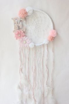 Baby Girl Dream Catcher Wall Hanging, Personalized Baby Gifts For Girl, Crochet Dreamcatcher, Pink Mint Decor Baby Shower Decorations Girl Baby Girl Gifts, Gifts For Girls, Dreamcatcher Crochet, Baby Girl Nursery Decor, Room Baby, Girl Baby Shower Decorations, Crochet Decoration, Personalized Baby Gifts, Wooden Letters