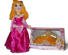 Princess Aurora Plush from Sleeping Beauty with Matching Soft Plush Girl's Sleep Mask- nighty night!