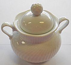Dansk Blanc Sugar Bowl W/ Lid