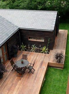 Top 60 Best Backyard Deck Ideas - Wood And Composite Decking Designs You are in the right place about trex Deck Here we offer you the most beautiful pictures about the Deck madera you are looking for. Patio Deck Designs, Patio Design, Small Deck Designs, Modern Deck, Deck Landscaping, Floating Deck, Diy Deck, Wooden Decks, Wooden House