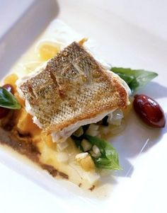Pan seared Chatam #cod from Aroma Kitchen & Winebar