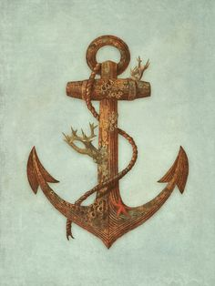 barnacle crusted Anchor - Crush Cul de Sac, tattoo idea