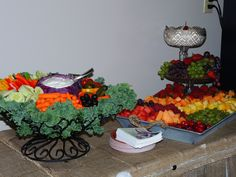 Fruit Tray  Display and vegetable tray display