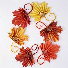 Fall paper leaves, fun and easy to make!