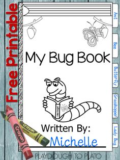 Fun kids' science project. Free Bug Book!! Make the book and head outside.