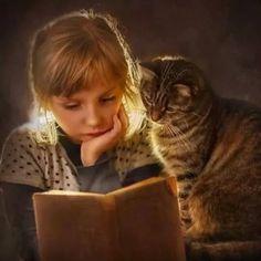 Sometimes you just need a book buddy (I like mine with fur : )