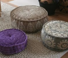 pouf seating, I have two like the brown one except it's purple and gray and they are awesome!