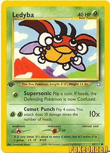 Pokemon Neo Genesis Card 63 - Ledyba $0.49-$1.50