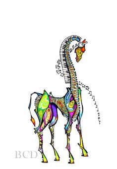 <3 this! iGiraffe -  Print. $20.00, via Etsy.