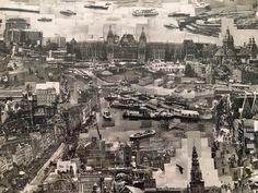 Amsterdam CS en het Damrak in een collage van Sohei Nishino.