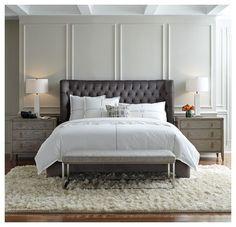 Love this bedroom setup.