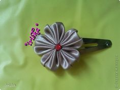 PETAL FOLDING, AMAZING NEW ONE! Master class, crafts, and jewelry Tsumami Kanzashi: Just MK petal Tapes Cloth.  Photo 14