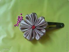 PETAL FOLDING, AMAZING NEW ONE! Master class, crafts, and jewelry Tsumami Kanzashi: Just MK petal Tapes Cloth.  Photo 14