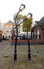 Kunstwerk van Pieke Bergmans bij het Noordbrabants museum in 's-Hertogenbosch