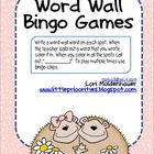 These 8 sheets are open ended so your students can use your word wall words.  Students fill in the spots and then you call out words.  The first st...