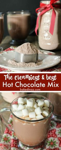 This is THE BEST Hot Chocolate Mix! So creamy! Make a batch to help keep you warm this winter.