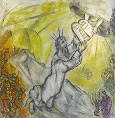Moïse recevant les tables de la loi, par Marc Chagall