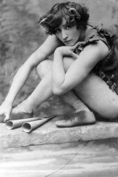 Colette (Sidonie-Gabrielle Colette) (1873-1954) - French Writer & Performer. Le Petit Faun. France. Circa 1906.