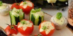 Petits légumes à la crème de camembert