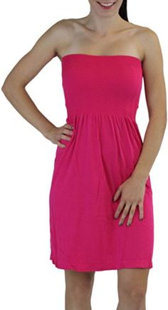 ToBeInStyle Women's Summer Tube Top Mini Dress - One Size - Pink ToBeInStyle http://smile.amazon.com/dp/B0072LC9G8/ref=cm_sw_r_pi_dp_oHZrub1FPSERP