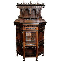 moorish style furniture. moorish cabinet 19th c style furniture