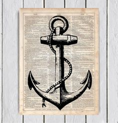 Hey, I found this really awesome Etsy listing at https://www.etsy.com/listing/214094235/anchor-silhouette-dictionary-art-print