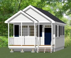 16x30 Tiny House -- #16X30H1 -- 480 sq ft - Excellent Floor Plans