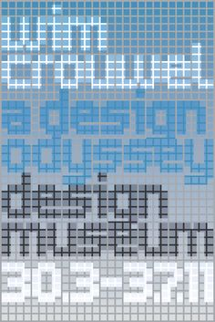 development process for the poster MuirMcNeil designed for the Wim Crouwel exhibition at the Design Museum