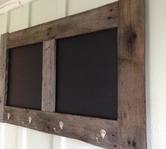 Rustic Chalkboard with Coat Hooks by FantasticSigns on Etsy