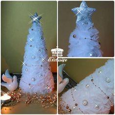 Choinka tiulowa - dekoracja świąteczna w Exclusive na DaWanda.com