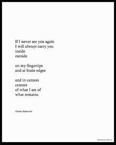 Charles Bukowski…