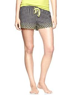 Embroidered flannel shorts | Gap $18.36